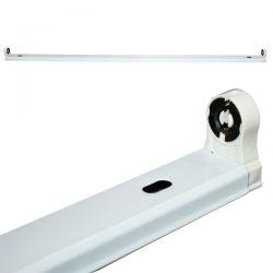 Φωτιστικό οροφής σκαφάκι diolamp 120cm για λάμπες LED T8 Φθορίου μονό λευκό super slim (χωρίς λαμπτήρα) 1Χ120cm ΚΩΔ : DELED120