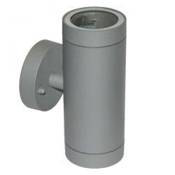 Φωτιστικό σπότ αλουμινίου στεγανό ip54 διπλής κατεύθυνσης γκρί με στρογγυλή βάση & ντουί gu10 ΚΩΔ : HI7031G