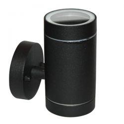 Φωτιστικό σπότ αλουμινίου στεγανό ip54 μονής κατεύθυνσης μαύρο με στρογγυλή βάση & ντουί gu10 ΚΩΔ : HI7032AB