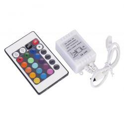 Ασύρματο ir rgb controller μεε 24 επιλογές 72watt 2amper 12vdc ΚΩΔ : CON-00120