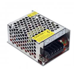 Τροφοδοτικό 24watt 2a μεταλλικό 230v/12vdc για ταινίες & λάμπες led μή στεγανό ip20 ΚΩΔ : SM-00110