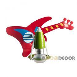 Παιδικό φωτιστικό μεταλλικό σπότ σε σχήμα ηλεκτρικής κιθάρας με ντουί Ε14 ΚΩΔ : 2381JB