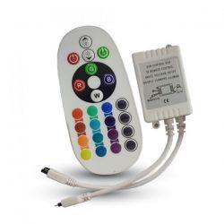 Υπέρυθρων ακτινών ir rgb controller με 24 επιλογές 72watt max 6amper 12vdc Κωδικός : 3625