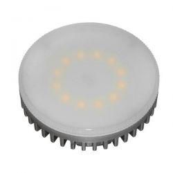 Λάμπα led GX53 smd 6watt 230c/ac θερμό λευκό φως 3000k δέσμης 160° 450lumen Κωδικός : GX536WW