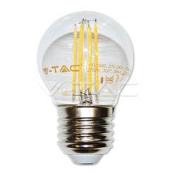 Διακοσμητική λάμπα led v-tac διάφανη σφαιρική Ε27 4watt 230v θερμό λευκό 2700κ 400lumen ΚΩΔ : 4306