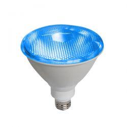 Λάμπα led diolamp par38 (κήπου) E27 10 watt 230v/ac δέσμης 45° 890lumen μπλέ φώς στεγανή ip65 Κωδικός : PAR3810B