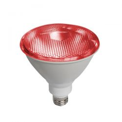Λάμπα led diolamp par38 (κήπου) E27 10 watt 230v/ac δέσμης 45° 890lumen κόκκινο φώς στεγανή ip65 Κωδικός : PAR3810R