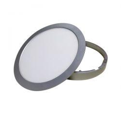 Led panel slim φωτιστικό επίτοιχο στρογγυλό ασημί 26watt 230v φυσικό λευκό φώς 4000Κ 1880lumen ΚΩΔ: STHERON2640R/SCH26R