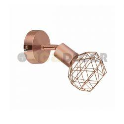 Φωτιστικό σπότ επίτοιχο μονόφωτο χαλκός πλέγμα σε σχήμα διαμάντι με περιστρεφόμενη κεφαλή & ντουί Ε14  Κωδικός :   MC15611C