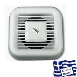 Εξαεριστήρας μπάνιου λευκός Ø120 mm 16watt 230v 170m³/h 63dB aliberti ΚΩΔ : E120