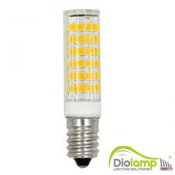 Λάμπα led diolamp καλαμπόκι κεραμική Ε14 7watt 230v ψυχρό λευκό 6000Κ δέσμης 360° 650lumen ΚΩΔ : E1428357CW