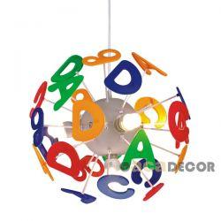 Παιδικό φωτιστικό κρεμαστό τετράφωτο με γράμματα απο πλαστικό με ντουί Ε14 ΚΩΔ :  MD70854E