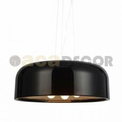 Φωτιστικό κρεμαστό τρίφωτο μεταλλικό μαύρο με δυνατότητα περιστροφής των λαμπτήρων & ντουί Ε27 σειρά avantgaede Κωδικός : OD5390MB