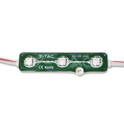 Αλυσίδα Led modules αυτοκόλλητη (τεμάχιο) πλαστικό με 3 led smd5050 1 watt 12v αδιάβροχη ip67 πράσινη Κωδικός : 5119