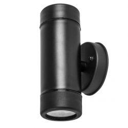 Φωτιστικό σπότ πλαστικό στεγανό ip65 διπλής κατεύθυνσης μαύρο με στρογγυλή βάση & ντουί gu10 ΚΩΔ : SL7031B