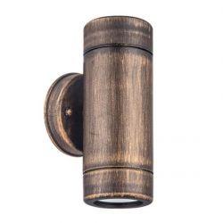Φωτιστικό σπότ πλαστικό στεγανό ip65 διπλής κατεύθυνσης σκουριά με στρογγυλή βάση & ντουί gu10 ΚΩΔ : SL7031R