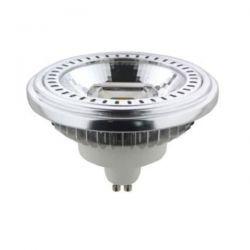 Λάμπα led ar111 gu10 15watt 230v/ac ντιμαριζόμενη θερμό λευκό φως 2700k δέσμης 40° 730lumen Κωδικός : ARGU10-15WWDIM40