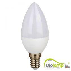 Λάμπα led diolamp κεράκι Ε14 7watt 230v/ac θερμό λευκό 3000Κ 580lumen ΚΩΔ : C377WW