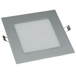 Led panel slim φωτιστικό χωνευτό τετράγωνο ασημί 20watt 230v/ac θερμό λευκό φώς 3000Κ 1440lumen ΚΩΔ: STHERON2030S