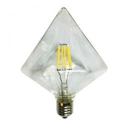 Λάμπα led filament διαφανές διαμάντι Ø125mm Ε27 6watt 230V/ac ντιμαριζόμενη 2700k θερμό λευκό φως 590lumen Κωδικός : TRON6WWDIM