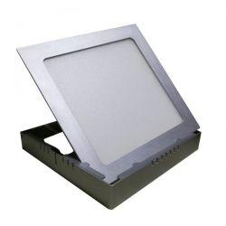 Led panel slim φωτιστικό επίτοιχο τετράγωνο ασημί 8watt 230v θερμό λευκό φώς 3000Κ 490lumen ΚΩΔ: STHERON830S/SCH8S