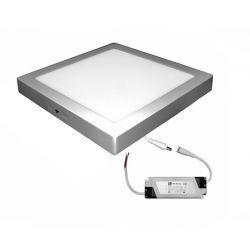 Led panel επίτοιχο ασημί τετράγωνο 25watt 230v φυσικό λευκό φως 4000k 1800lumen με τροφοδοτικό Κωδικός : 21-02532061