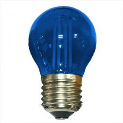 Λάμπα led diolamp cog μπλέ φώς σφαιρική Ø45mm Ε27 4watt 230V/ac 390lumen Κωδικός : GLAMO4WWB