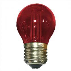 Λάμπα led diolamp cog κόκκινο φώς σφαιρική Ø45mm Ε27 4watt 230V/ac 390lumen Κωδικός : GLAMO4WWR