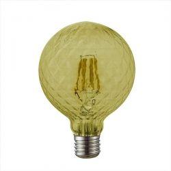 Λάμπα led diolamp filament κεχριμπαρί Globe Ø95mm Ε27 6watt 230V/ac ντιμαριζόμενη 2700k θερμό λευκό φως 680lumen Κωδικός : POC956WWDIMAM