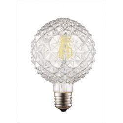 Λάμπα led diolamp filament διάφανη Globe Ø95mm Ε27 6watt 230V/ac ντιμαριζόμενη 2700k θερμό λευκό φως 680lumen Κωδικός : ZIV956WWDIM