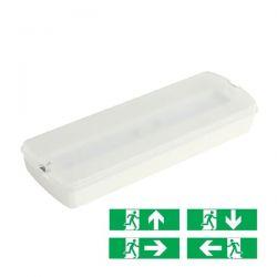 Φωτιστικό ασφαλείας led εφεδρικού φωτισμού αριστερό βέλος 2watt 230v 100lumen ψυχρό λευκό 6000Κ Κωδικός : HAPES260/HAP4