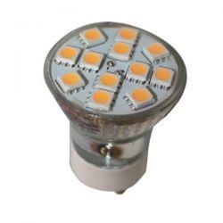 Λάμπα led smd Ø35mm Mini gu10 2.5watt 230v/ac ψυχρό λευκό φως 6000k δέσμης 120° 280lumen Κωδικός : GU10283512CW