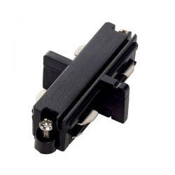 Σύνδεσμος - ευθεία ράγας 2 καλωδίων μαύρος για φωτιστικά σπότ ράγας Κωδικός : 2WIB