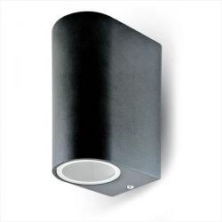 Φωτιστικό v-tac αλουμινίου στεγανό ip44 διπλής κατεύθυνσης μαύρο επίτοιχο με ντουί gu10 sku: 7509
