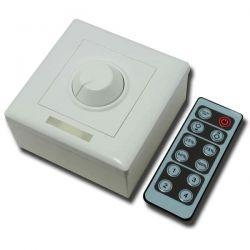 Dimmer για ταινίες LED μονόχρωμες επίτοιχο χειροκίνητο με τηλεχειρισμό 12VDC 8A/96W - 24VDC 8A/192W sku: IR12-T1