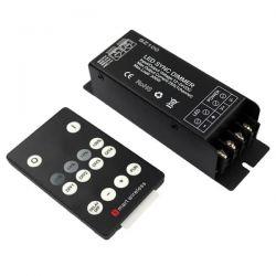 Power dimmer sz100-sync 12-24V DC με τηλεχειρισμό για μονόχρωμες λωρίδες led sku: SZ100-SYNC