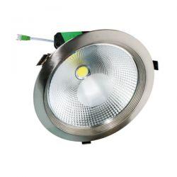 Led φωτιστικό οροφής χωνευτό στρογγυλό νίκελ μάτ 50watt 230v ψυχρό λευκό φώς 6000k 4270lm sku: LUCE5060NM
