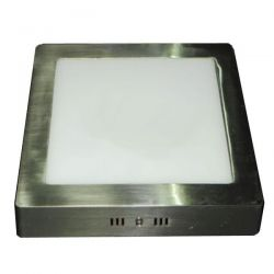Led panel slim φωτιστικό επίτοιχο τετράγωνο νίκελ-μάτ 20watt 230v/ac ψυχρό λευκό φώς 6000Κ ip44 1480lumen ΚΩΔ: NIKI2060SNM