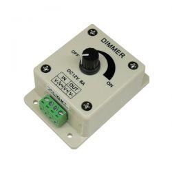 Dimmer για ταινίες LED μονόχρωμες επίτοιχο χειροκίνητο 12VDC 8A/96W - 24VDC 8A/192W sku: T1