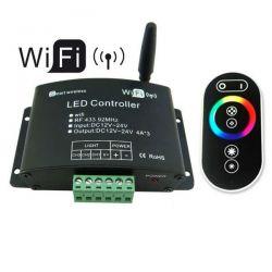 Wi-fi controller WIFIV01 12-24V DC με τηλεχειριστήριο αφής RF για RGB(εναλαγής χρωμάτων)λωρίδες led sku: WIFIV01