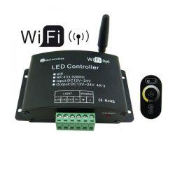 Wi-fi controller WIFIV02 12-24V DC με τηλεχειριστήριο αφής RF για μονόχρωμες λωρίδες led sku: WIFIV02