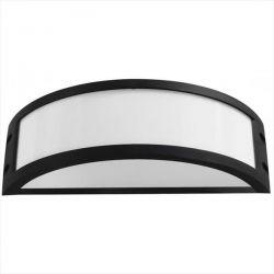 Φωτιστικό απλίκα μαύρη πλαστική με μάτ γυαλί (ντουί ε27) sku : 13-0074