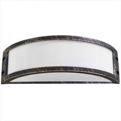 Φωτιστικό απλίκα μπρονζέ πλαστική με μάτ γυαλί (ντουί ε27) sku : 13-0077
