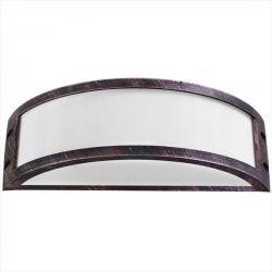 Φωτιστικό απλίκα χαλκός πλαστική με μάτ γυαλί (ντουί ε27) sku : 13-0078