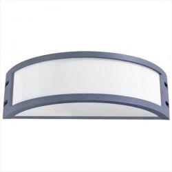 Φωτιστικό απλίκα γκρί πλαστική με μάτ γυαλί (ντουί ε27) sku : 13-0076