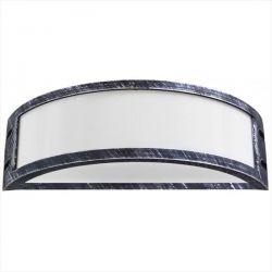 Φωτιστικό απλίκα silver πλαστική με μάτ γυαλί (ντουί ε27) sku : 13-0079