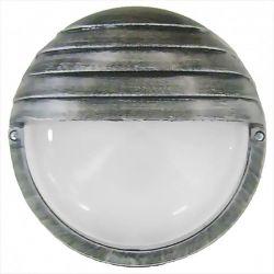 Φωτιστικό απλίκα στρογγυλή πλαστική silver με σκίαστρο & μάτ γυαλί (ντουί ε27) sku : 13-0043