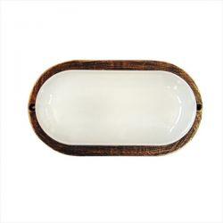 Φωτιστικό χελώνα μπρονζέ πλαστική με μάτ γυαλί (ντουί ε27) sku : 13-0012