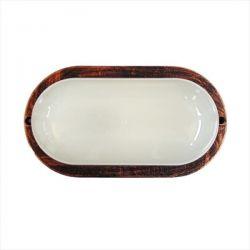 Φωτιστικό χελώνα χαλκός πλαστική με μάτ γυαλί (ντουί ε27) sku : 13-0032