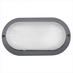 Φωτιστικό χελώνα γκρί πλαστική με μάτ γυαλί (ντουί ε27) sku : 13-0010